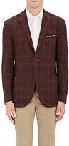 Boglioli Men's Claret Plaid Two-Button Sportcoat
