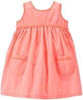 Carter's Lace Trim Dress (Baby) - Orange-24 Months