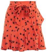 Petite floral mini skirt