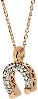 Selim Mouzannar Diamond Horseshoe Pendant Necklace