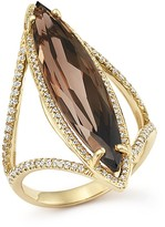 Bloomingdale's Smoky Quartz and Diamond Ring in 14K Yellow Gold