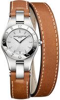 Baume & Mercier Women's Swiss Linea Brown Double Wrap Leather Strap Watch 27mm M0A10036