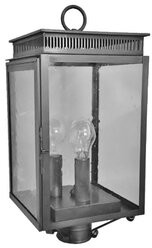 Brass Traditions 1800 Series 3-Light Lantern Head Finish: Antique Brass, Shade Type: Clear
