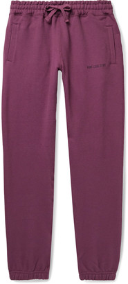 Aimé Leon Dore Tapered Logo-Embroidered Loopback Cotton-Jersey Sweatpants