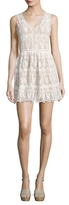 Lucca Couture Lace V-Neck Short Dress