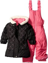 Pink Platinum Baby Girls Quilted Jacket Snowsuit