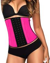 YIANNA Women's Latex Sport Girdle Waist Training Corset Waist Shaper,CA-U37G-Black-5XL