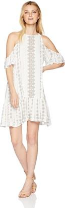 O'Neill Women's Keyhole Cutout Cold Shoulder Short Dress