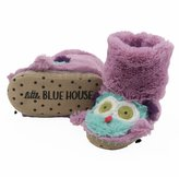 Hatley Kids Party Owl Slippers