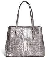 GUESS Delaney Python-Embossed Shopper Tote