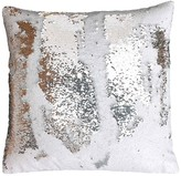Thro Home Melody Mermaid Reversible Sequin 20x20 Pillow - White/Silver