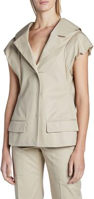 Nina Ricci Short-Sleeve Cotton Blazer Jacket