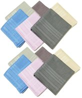 OWM Handkerchiefs 12 Pack Assorted Colored Pure Cotton Solid Handkerchiefs Bulk