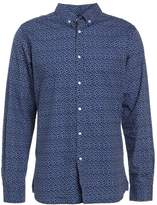 Knowledge Cotton Apparel Dot Printed Poplin Shirt Peacoat