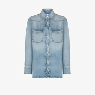 Givenchy Patch Pocket Denim Shirt