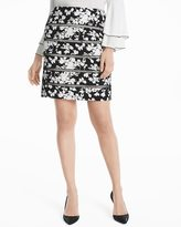 White House Black Market Lattice Pencil Skirt