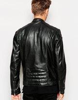 Pepe Jeans Leather Jacket Lennon - Black
