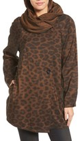 Mycra Pac Designer Wear Women's 'Mini Donatella Leopard' Reversible Pleat Hood Packable Travel Coat