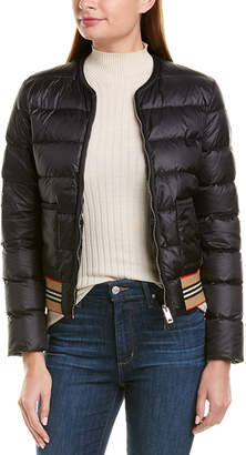 Burberry Icon Stripe Detail Down Puffer Jacket