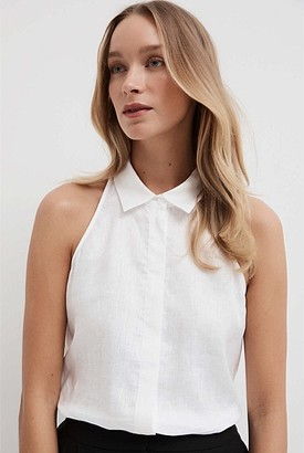 Witchery Sleeveless Halter Shirt