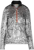 Emilio Pucci Silk-Trimmed Metallic Fil Coupé Top
