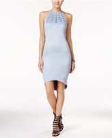 Material Girl Juniors' Embellished Faux-Suede Bodycon Dress, Only at Macy's