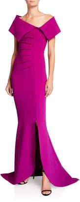 Chiara Boni Egida Asymmetric Off-the-Shoulder Mermaid Gown