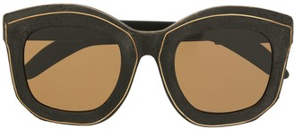 Kuboraum Matte Oversized-Frame Sunglasses
