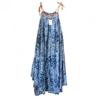 Free People \N Blue Cotton Dresses