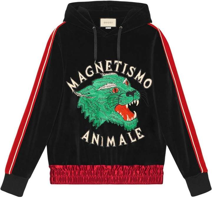 Gucci Magnetismo Animale chenille sweatshirt