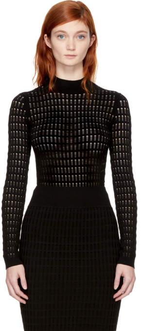 Alexander Wang Black Float Stitch Sweater