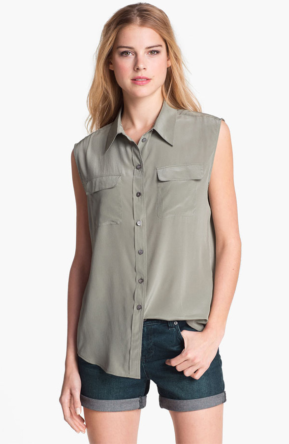 Vince Camuto Two by Sleeveless Silk Shirt