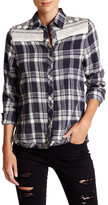 Anama Embroidery Panel Plaid Shirt