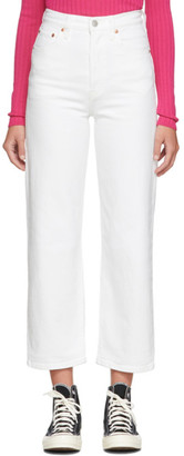 Levi's Levis White Ribcage Straight Ankle Jeans