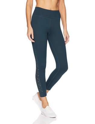 Betsey Johnson Women's Laser Cut Insert 7/8 Legging