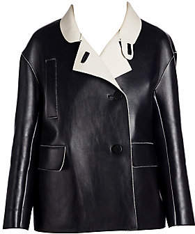 Marni Women's Bonded Leather Crossover Jacket