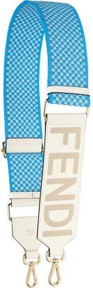 Fendi Logo-Print Check Bag Strap
