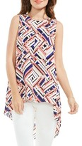 Vince Camuto Women's Geo Print High/low Blouse