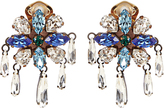 Shourouk Crystal-embellished clip-on earrings