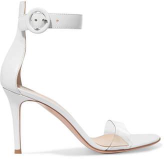 Gianvito Rossi Portofino 85 Pvc-trimmed Leather Sandals - White