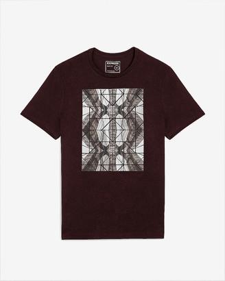 Express Burgundy Mirrored Graphic T-Shirt