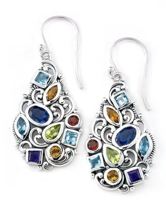 Samuel B. Sterling Silver Multi-Stone Drop Earrings