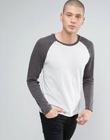 Brave Soul Long Sleeve Contrast Raglan T-shirt