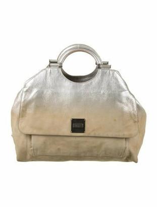 Marc Jacobs Metallic Leather Handle Bag Metallic