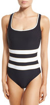 Gottex Regatta Striped One-Piece Swimsuit