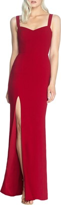 Dress the Population Estella Crepe Trumpet Gown