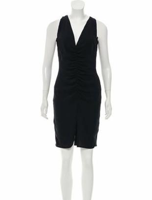 Valentino Silk Mini Dress w/ Tags Navy