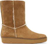 Moncler Tan Shearling Boots