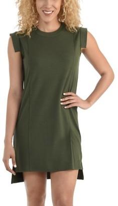 Seek No Further Women's Pleated Ponte Shift Dress