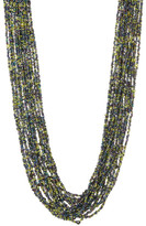 Natasha Accessories Multi Strand Tiny Bead Necklace